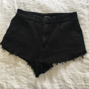 Black High Waisted Urban Outfitters Denim Shorts